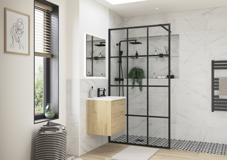 DIEWP1046RefleXion Iconix Wetroom Framed Panel