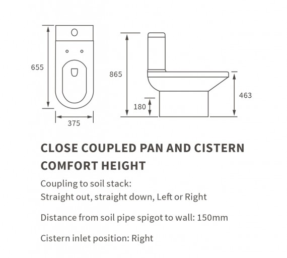 DIPTP0246Close Coupled Pan And Cistern Comfort Height