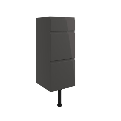 DIFT1490Valesso Onyx Grey Gloss 300mm 3 Drawer Unit