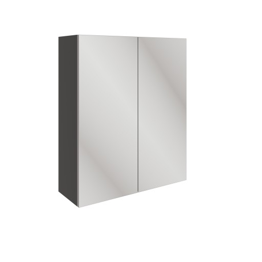 DIFT1580Valesso Oynx Grey Gloss 600mm 2 Door Mirrored Wall Unit