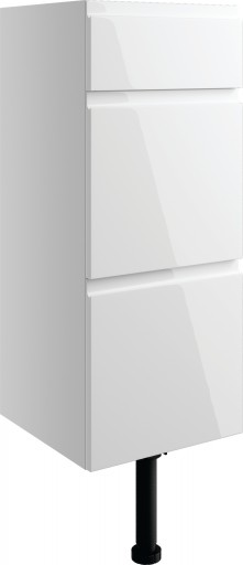 DIFT1488Valesso White Gloss 300mm 3 Drawer Unit