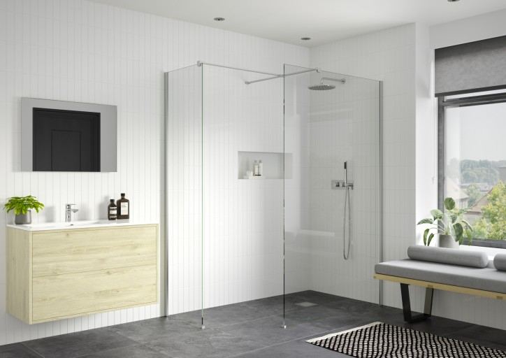 DIEWP7008RefleXion Iconix Wetroom Panel With Side Panel